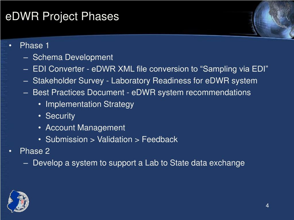 eDWR Project Phases