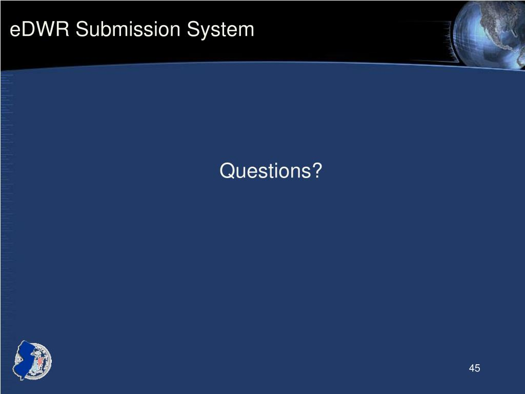 eDWR Submission System