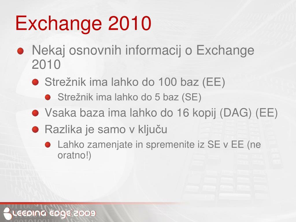 Exchange 2010
