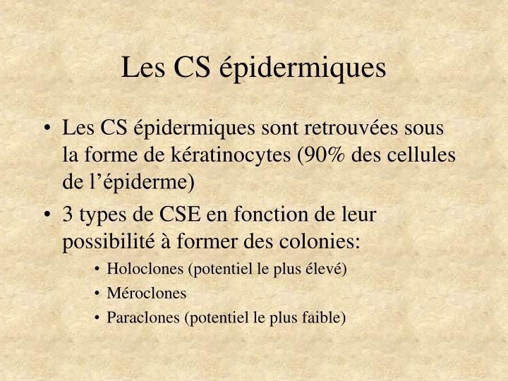 Les CS épidermiques