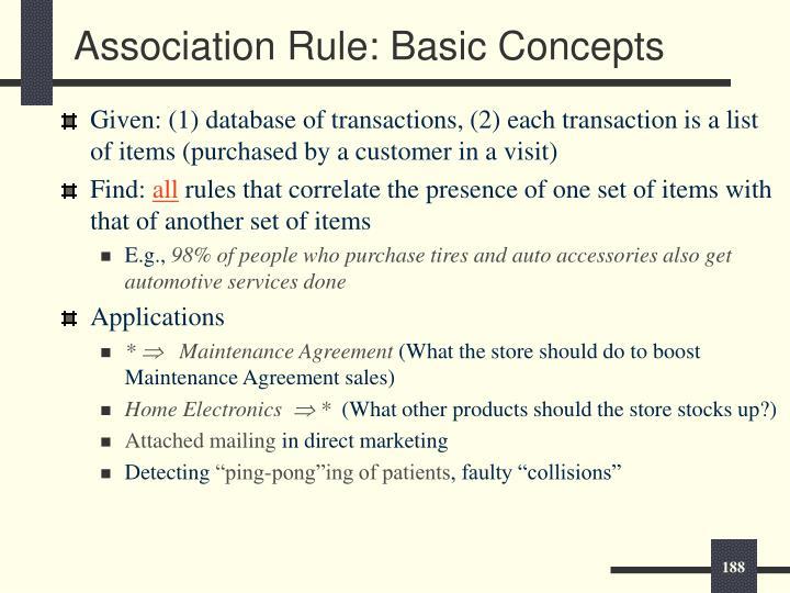 Association Rule: Basic Concepts