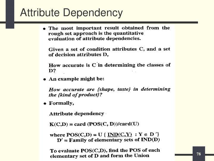 Attribute Dependency