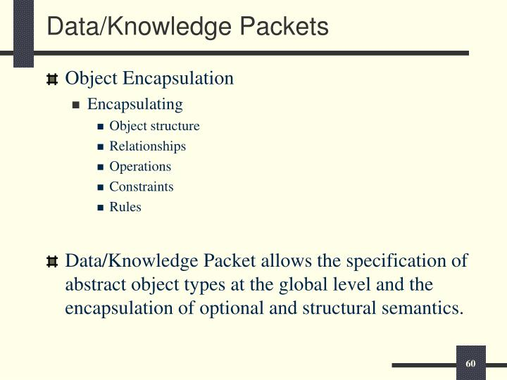 Data/Knowledge Packets