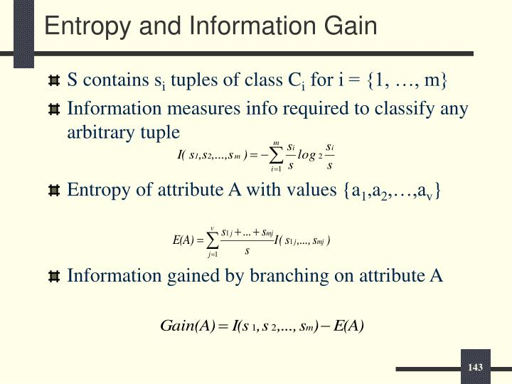 Entropy and Information Gain