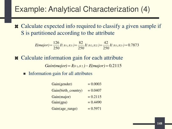 Example: Analytical Characterization (4)