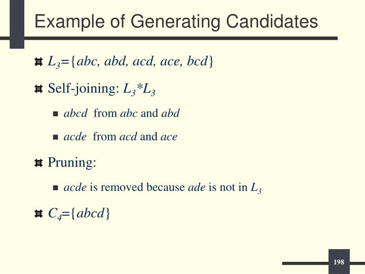 Example of Generating Candidates