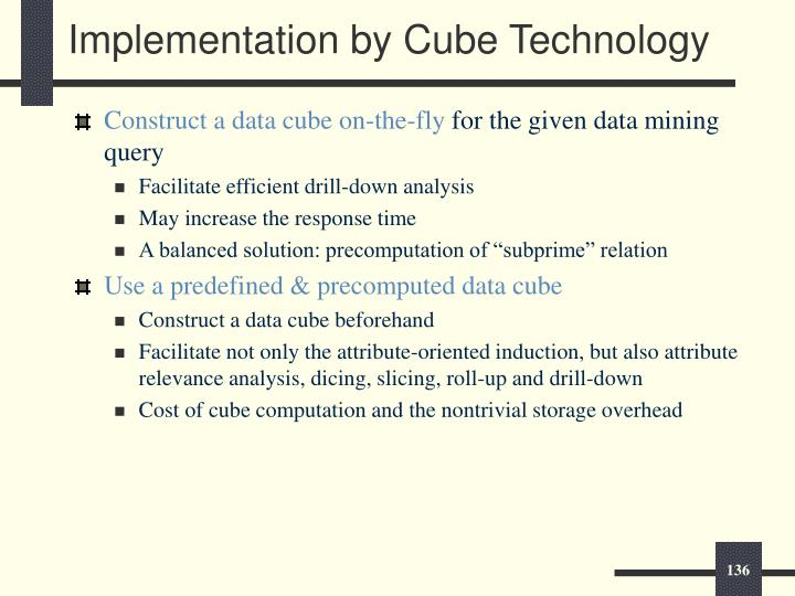 Implementation by Cube Technology