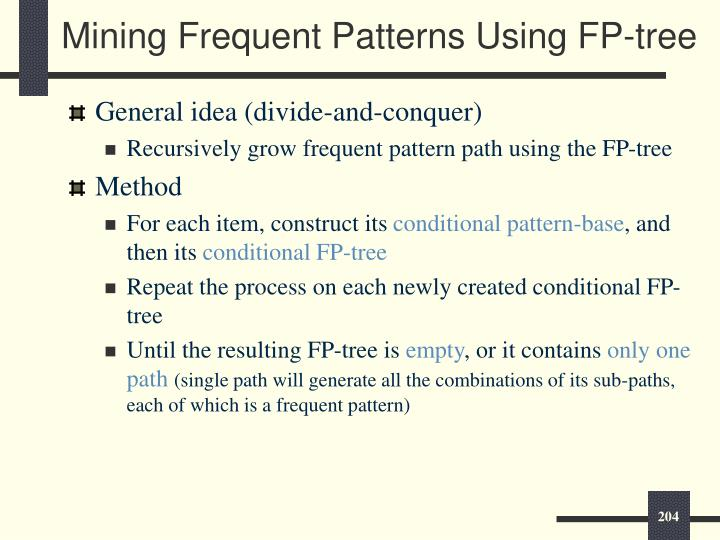 Mining Frequent Patterns Using FP-tree