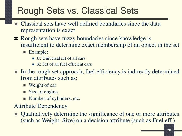 Rough Sets vs. Classical Sets