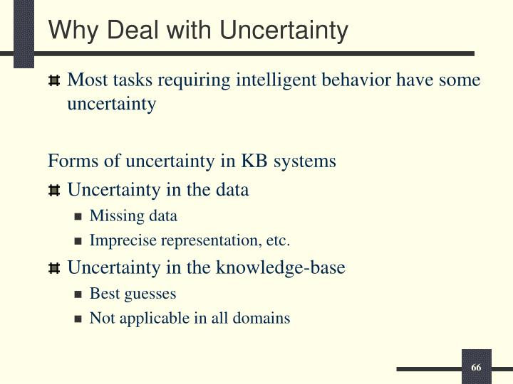 Why Deal with Uncertainty