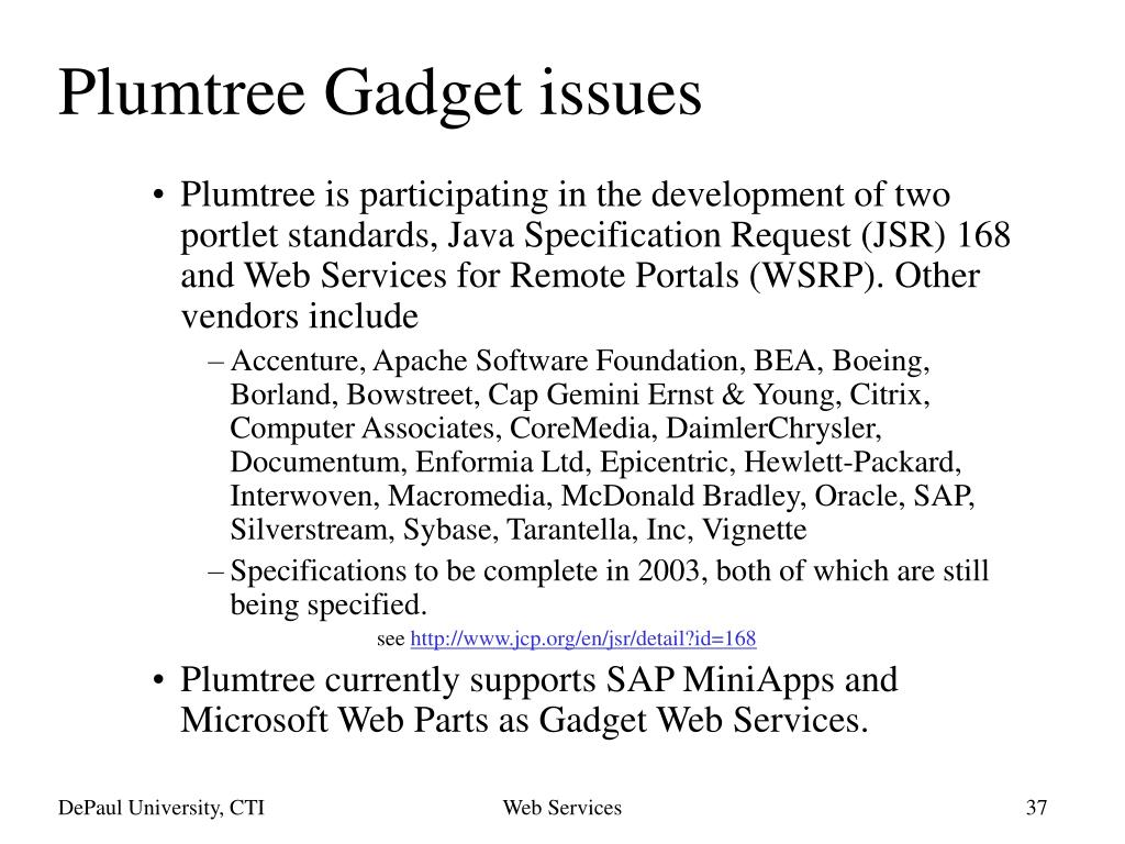 Plumtree Gadget issues