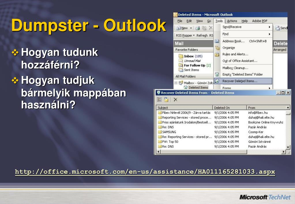 Dumpster - Outlook