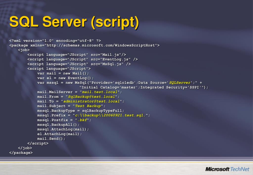 SQL Server (script)