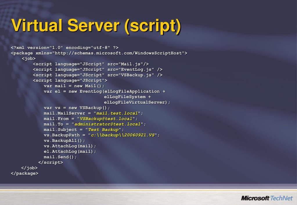 Virtual Server (script)
