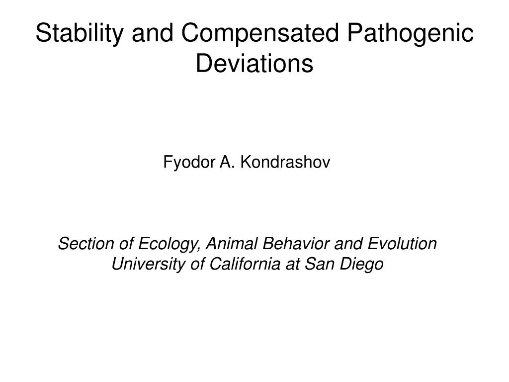 Stability and Compensated Pathogenic Deviations