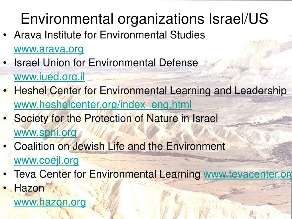 Environmental organizations Israel/US