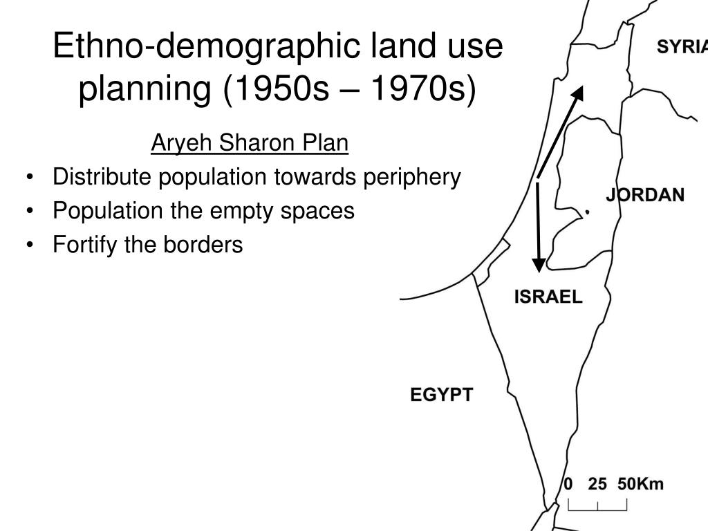 Ethno-demographic land use planning (1950s – 1970s)