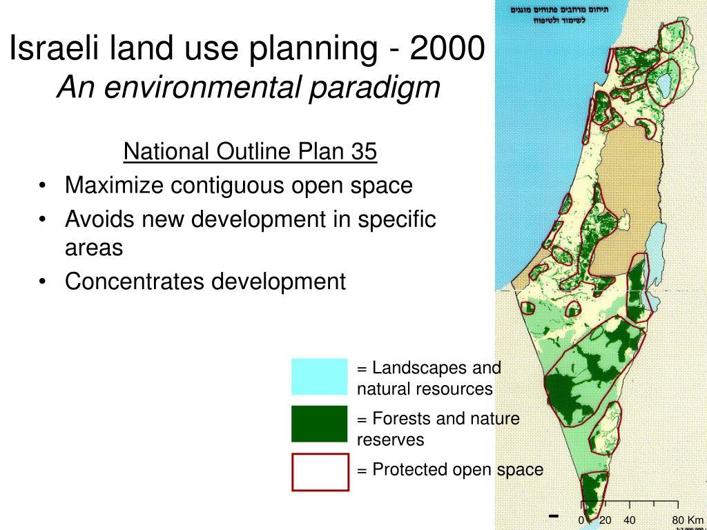 Israeli land use planning - 2000
