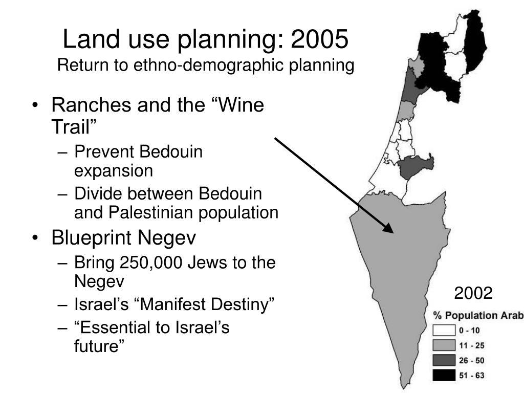 Land use planning: 2005