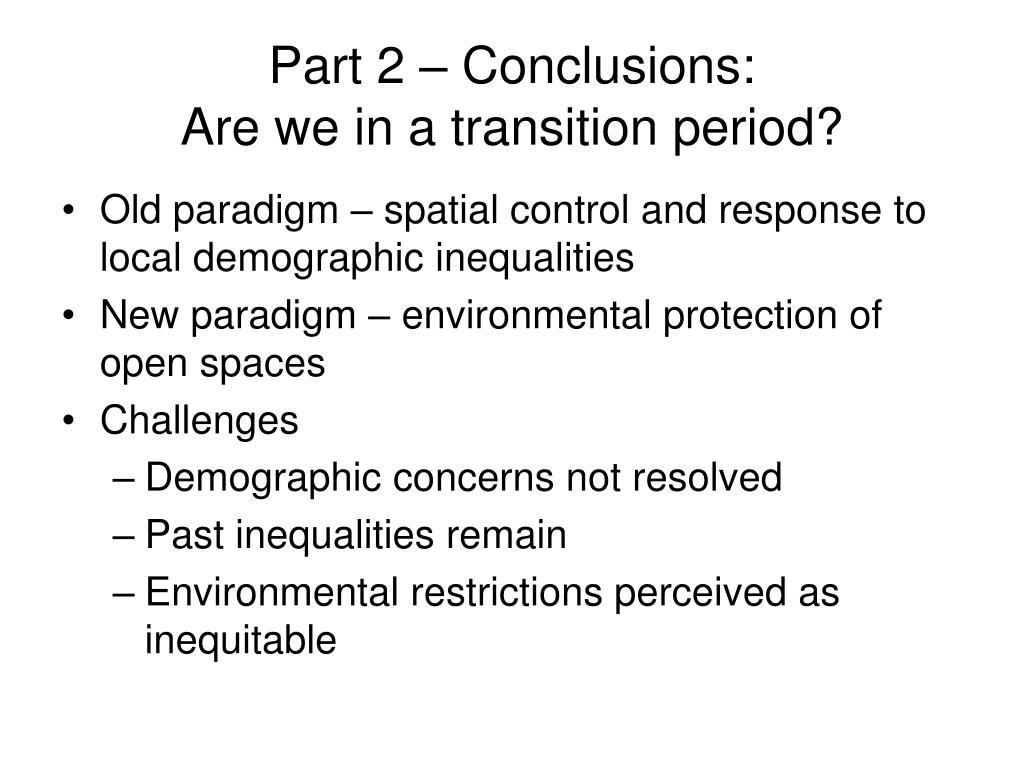 Part 2 – Conclusions: