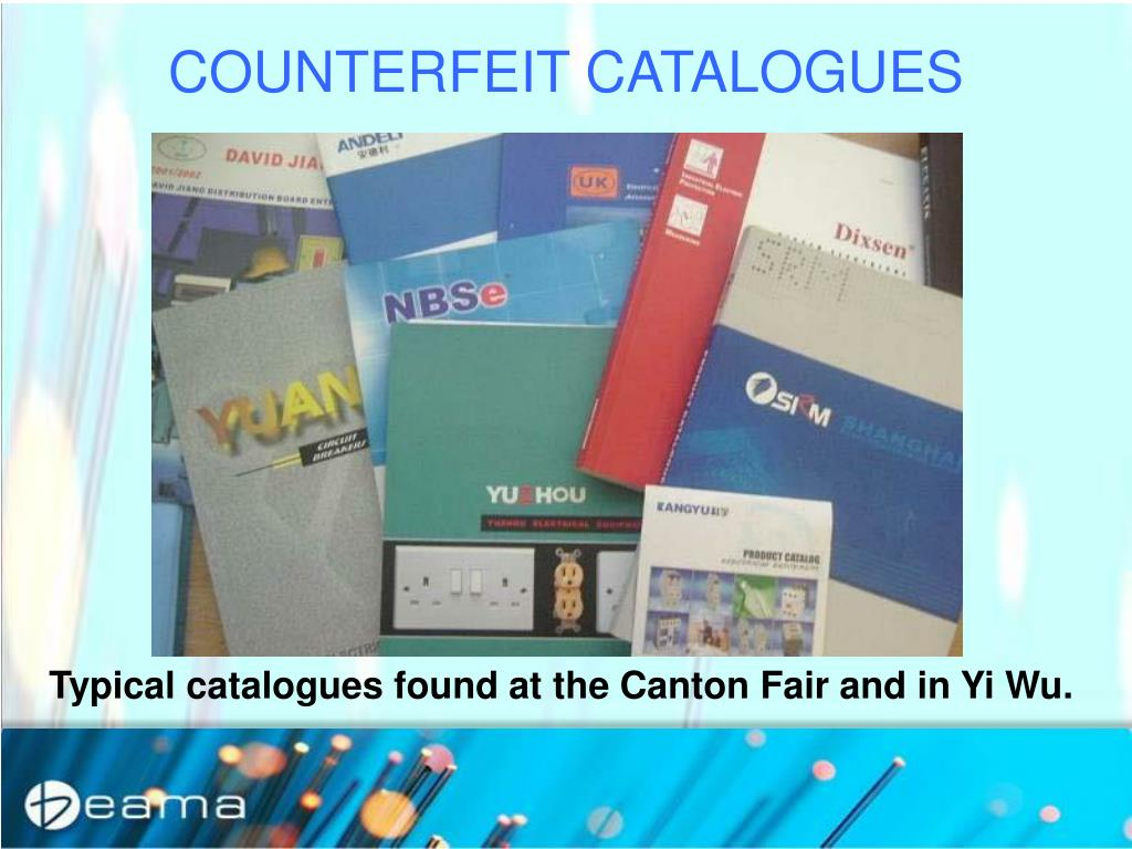COUNTERFEIT CATALOGUES