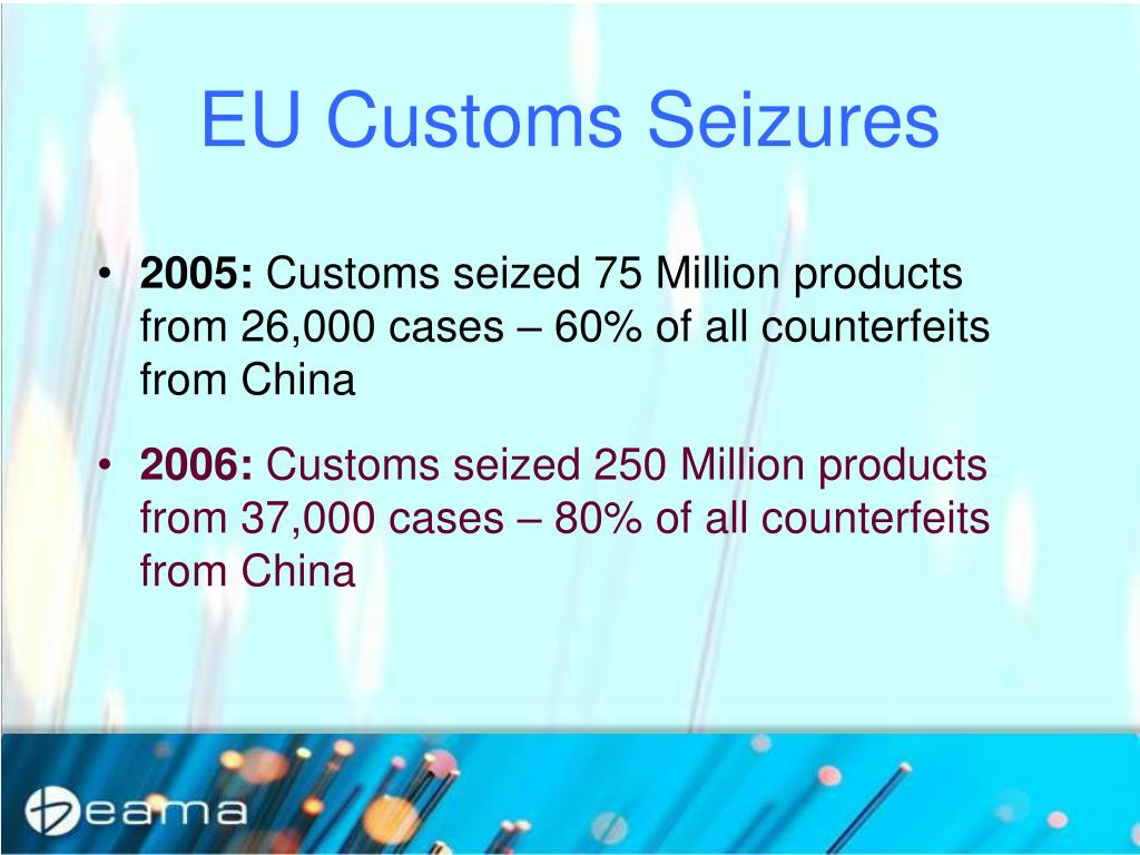 EU Customs Seizures