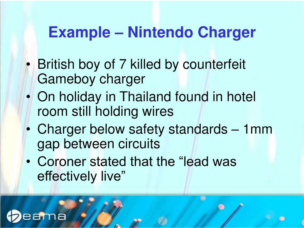 Example – Nintendo Charger
