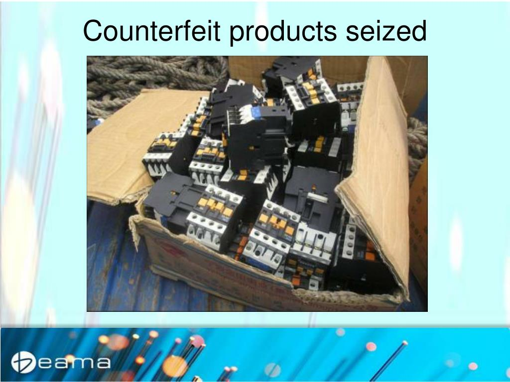 Counterfeit products seized
