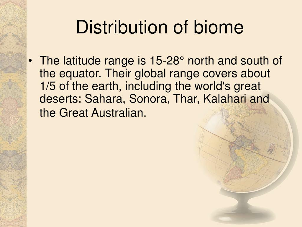 Distribution of biome