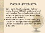 plants ii growthforms