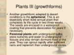 plants iii growthforms