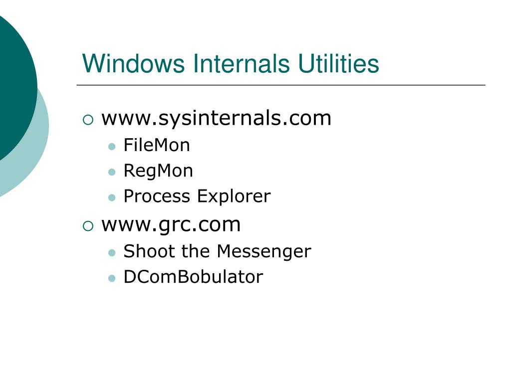 Windows Internals Utilities