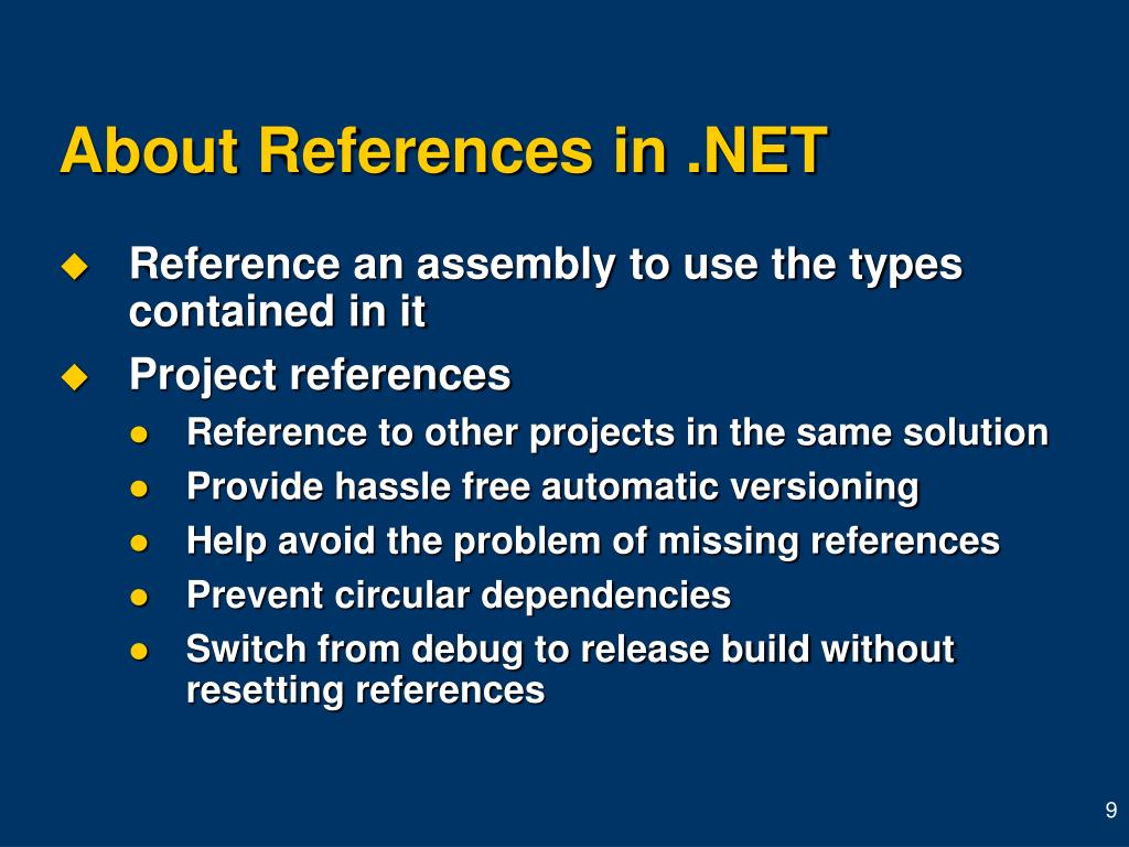 About References in .NET