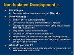 non isolated development 2