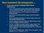 non isolated development 4