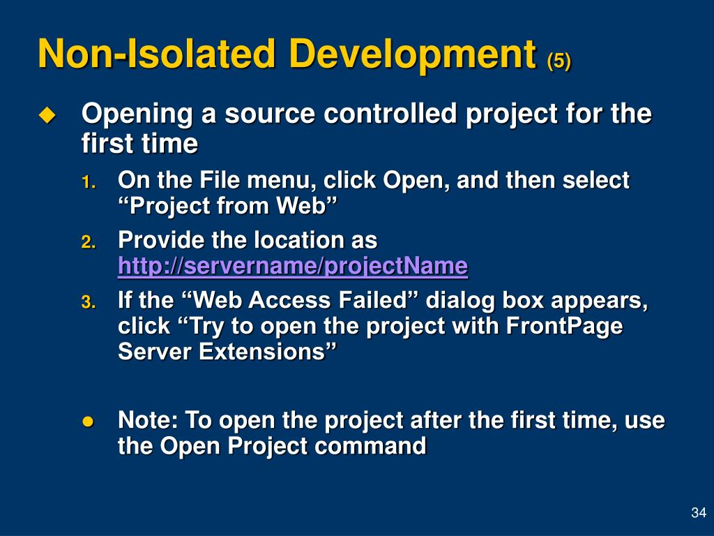 Non-Isolated Development