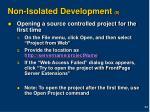 non isolated development 5