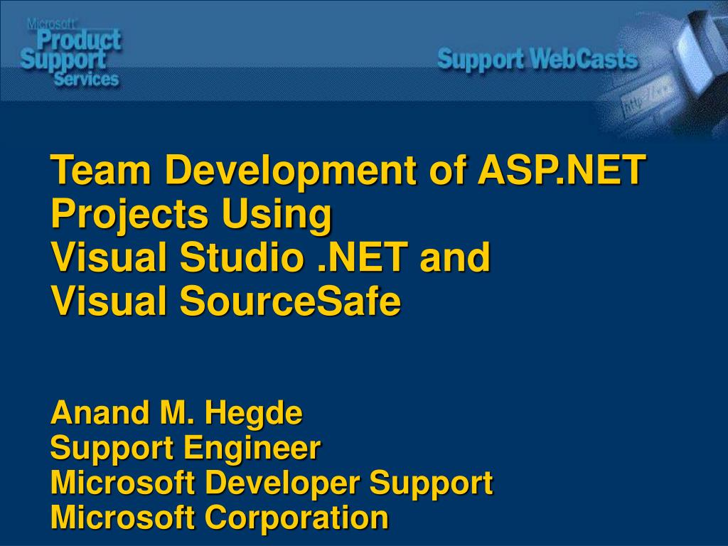 Team Development of ASP.NET Projects Using