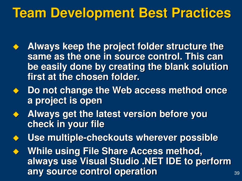 Team Development Best Practices