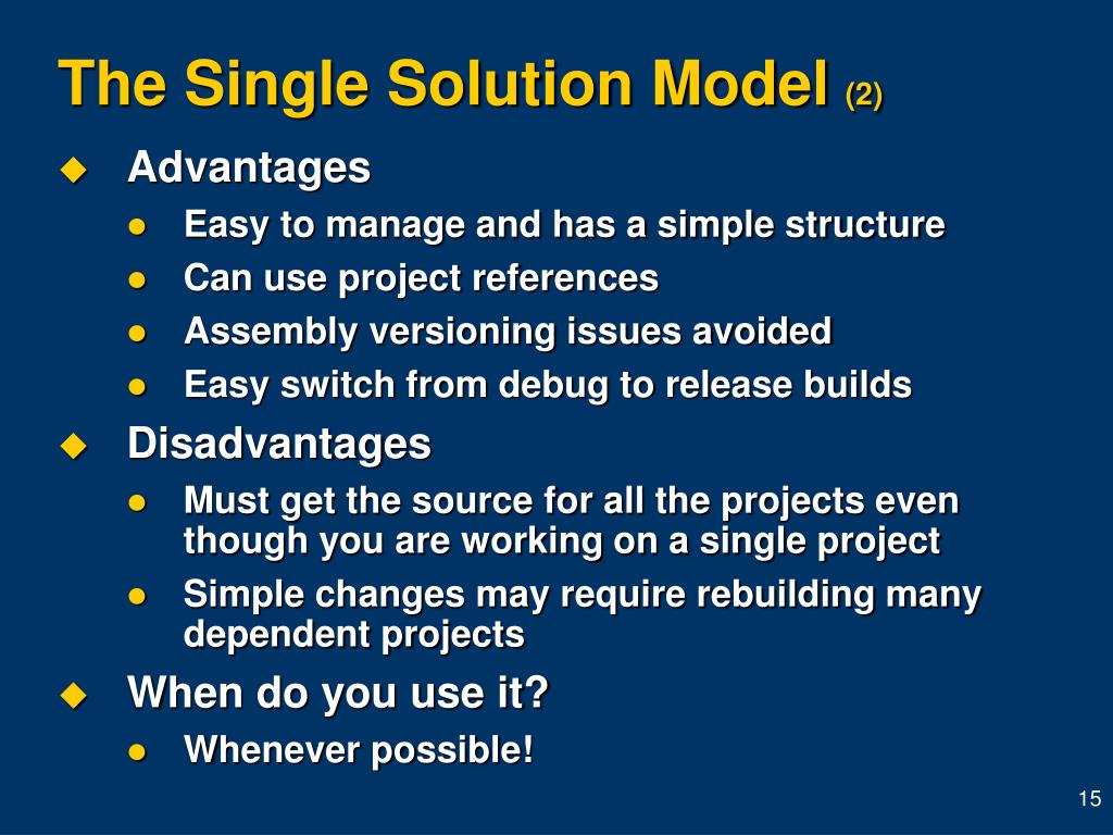 The Single Solution Model