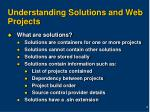 understanding solutions and web projects
