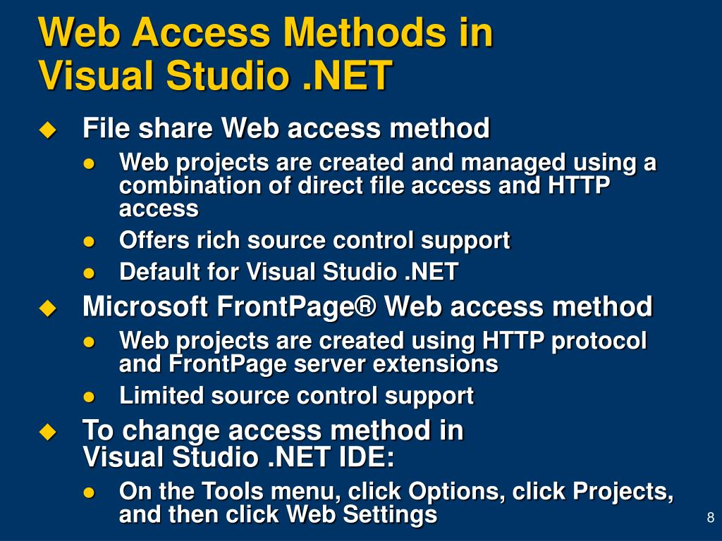 Web Access Methods in