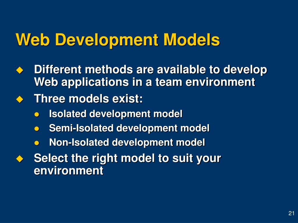 Web Development Models
