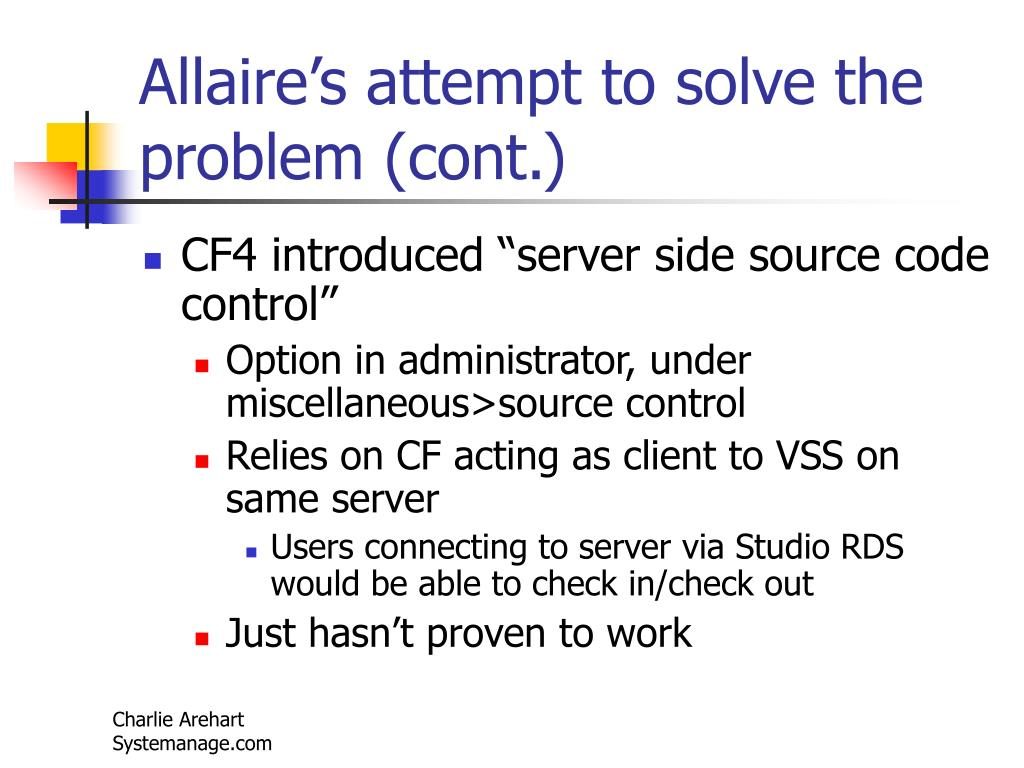 Allaire's attempt to solve the problem (cont.)