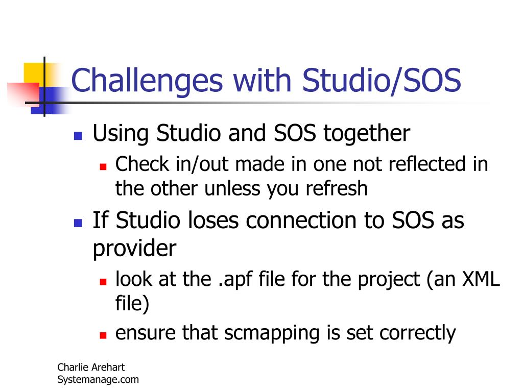 Challenges with Studio/SOS
