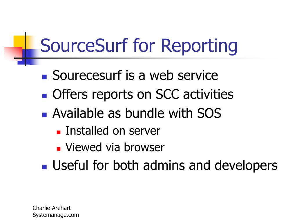 SourceSurf for Reporting