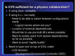 is cvs sufficient for a physics collaboration