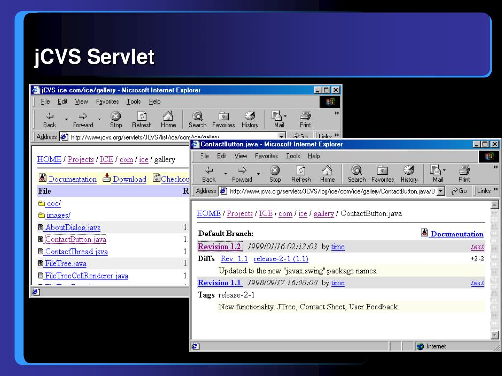 jCVS Servlet