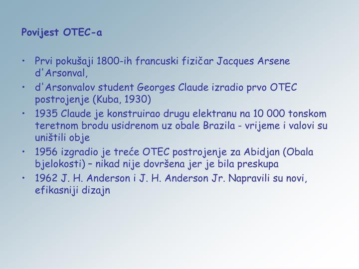 Povijest OTEC-a