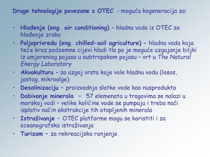 Druge tehnologije povezane s OTEC